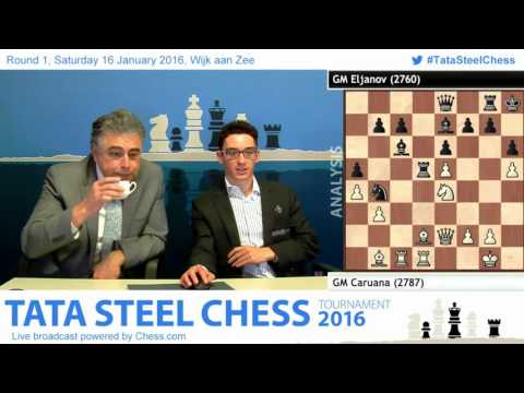 Caruana beats Eljanov at 1st rd, Post game Analysis - Tata Steel Chess 2016