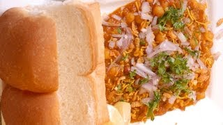 Usal Pav - white peas curry with bread Maharashtrian speciality - By Vahchef @ Vahrehvah.com
