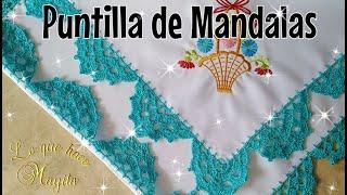 Puntilla de Mándalas -Servilleta de canasta