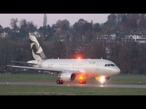 Airbus A318 Elite  - Al Jaber Aviation (AJA) * Baby Bus * Take Off at Bern