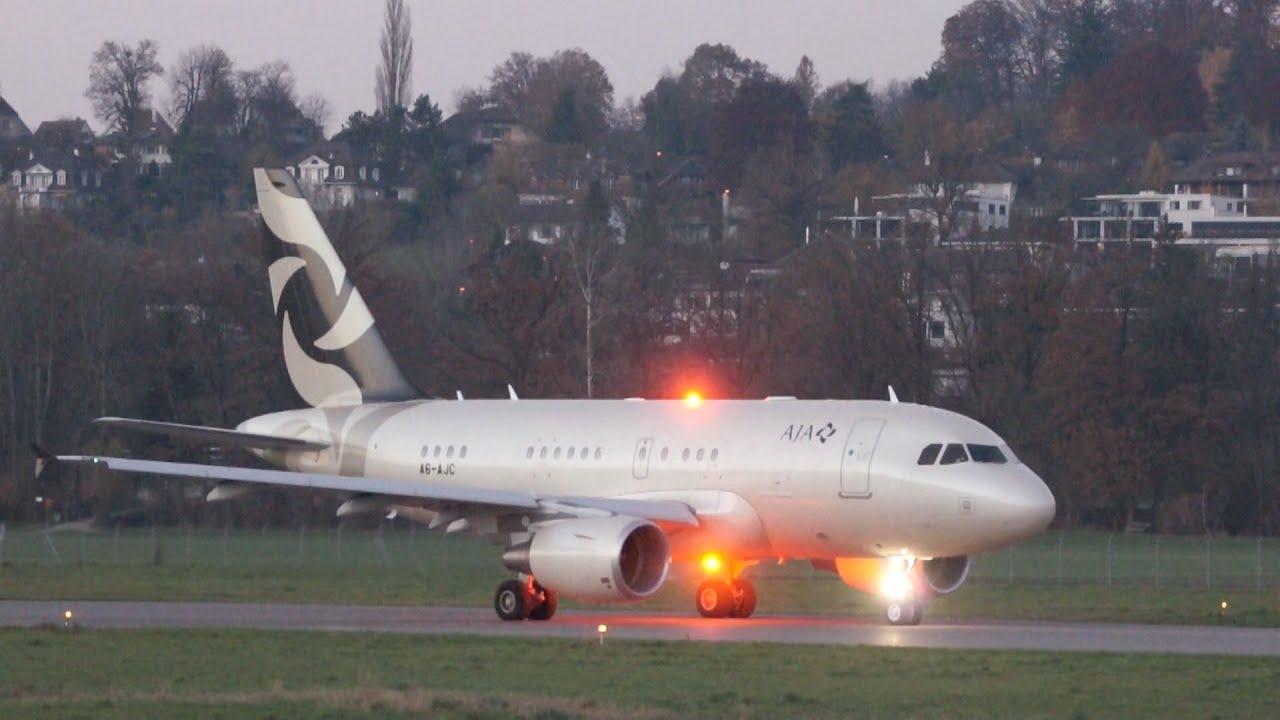 Airbus A318 Elite - Al Jaber Aviation (AJA)   Baby Bus   Take Off at Bern 7ce1dc190eab4
