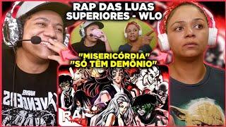 MINHA MÃE REAGINDO AO Rap das Luas Superiores ( Demon Slayer: Kimetsu no Yaiba ) | WLO | Conjunto
