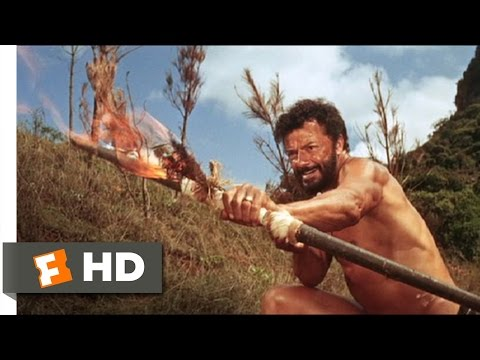 The Naked Prey (5/9) Movie CLIP - Fighting With Fire (1966) HD