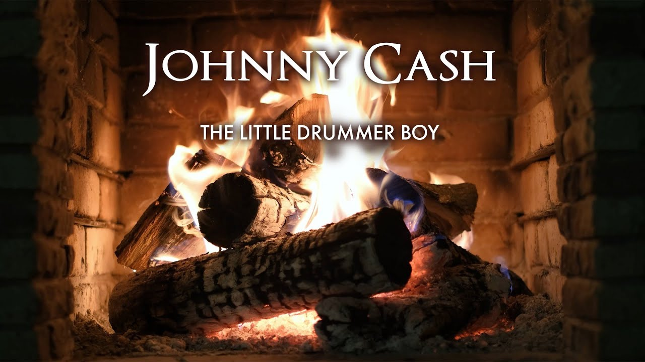 Johnny Cash - The Little Drummer Boy (Yule Log Short)