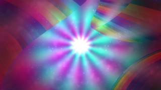 8K Magical Triple Rainbow Shining Space 4320p Motion Background