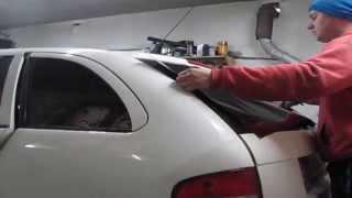 Тонування заднього вікна (tinting rear window) Skoda Fabia