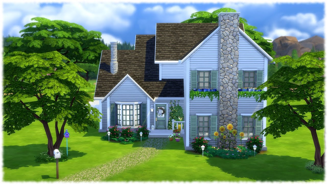 The Sims 4 Speed Build FAMILY HOUSE NO CC YouTube
