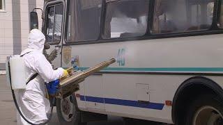 В Благовещенске общественный транспорт обрабатывают генераторами тумана