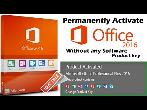 Permanently activate Microsoft office 2016 Pro plus Without any software or product key / 2018