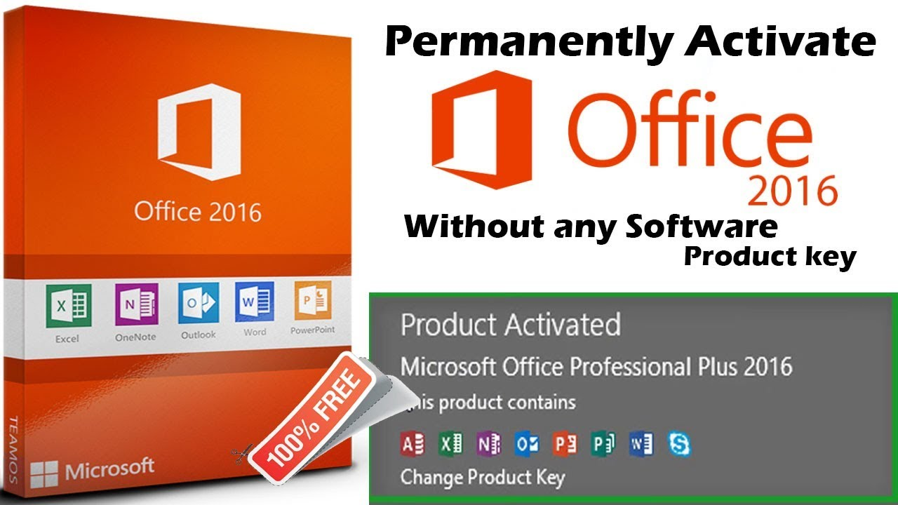 Permanently Activate Microsoft Office 2016 Pro Plus