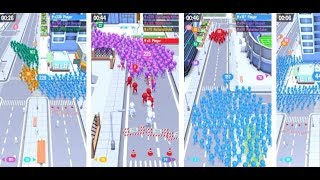 CROWD CITY GAMEPLAY, Android GamePlay Most Popular Mobile Casual Game Crowd City GamePlay