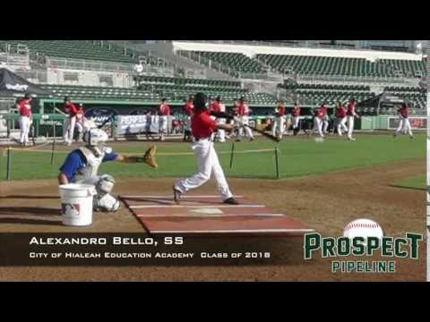 Alexandro Bello, SS, City of Hialeah Education Academy, Swing Mechanics at 200 FPS