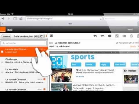 Utiliser la messagerie Orange sur sa tablette