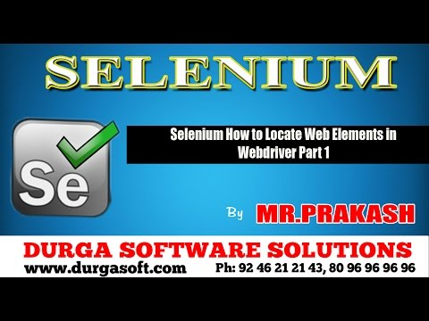 Selenium How to Locate Web Elements in Webdriver Part 1