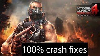 FREE DOWNLOAD | MODERN COMBAT 4 ZERO HOUR | CRASH FIX 100% | NEW TRICK