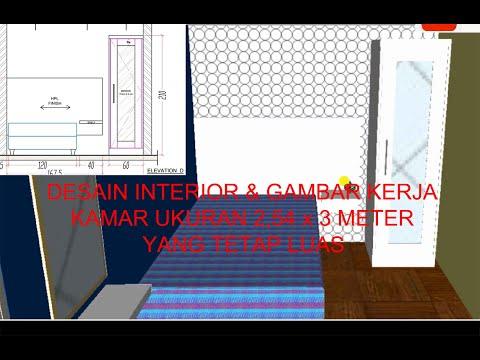 desain-interior-&-gambar-kerja-kamar-ukuran-2,54x3-m-yang-tetap-luas