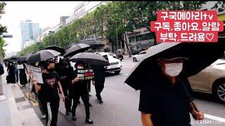 서초,교대,강남일대 행진#블랙시위우한갤러리합류|2020…
