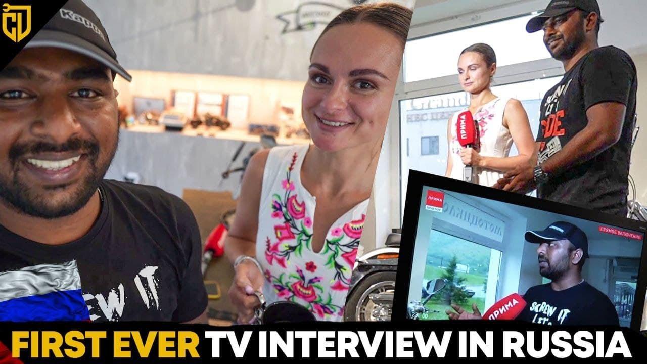 முதல் Interview Russia வில் | MotorCity Museum | Russia Series | Ep 18 | Cherry Vlogs