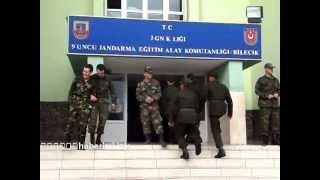 Bilecik 9'uncu Jandarma Eğitim Alay Komutanlığı'nda acemi eğitimi sonu