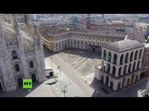 RT en Español: Milán completamente desierta en medio de la cuarentena por la pandemia