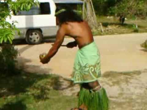 Coconut water time again, Rurutu   French Polynesia Cruise 2013 046