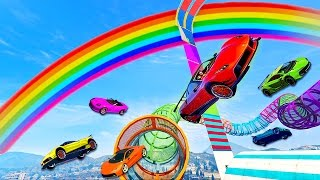 TEAM HIKE FTW!! Racing in Rainbowland (GTA 5 Funny Moments & FAILS)