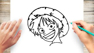 How to Draw Monkey D Luffy Manga Step by Step ~ One Piece