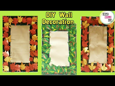 DIY Wall Decoration ideas | Unique & in expensive wall hanging ideas at home#Home skills hub