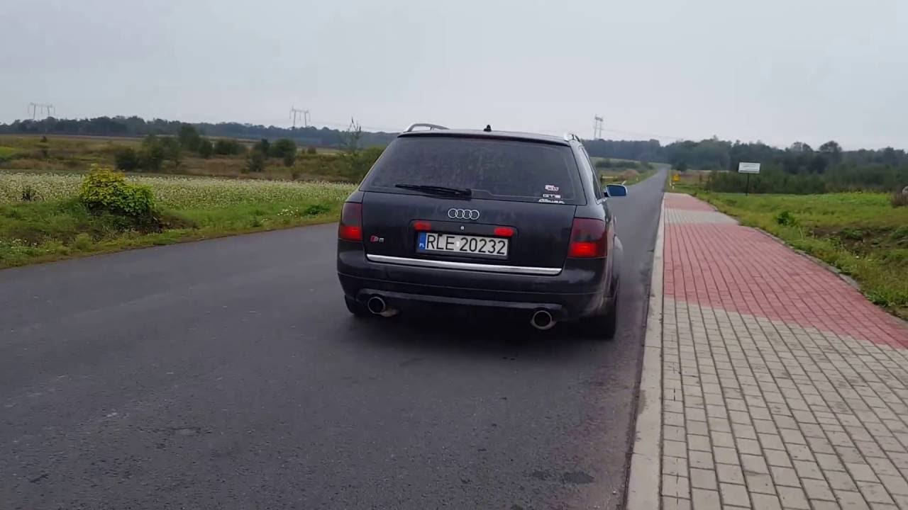 Audi S6 C5 exhaust by GTPerformance - YouTube
