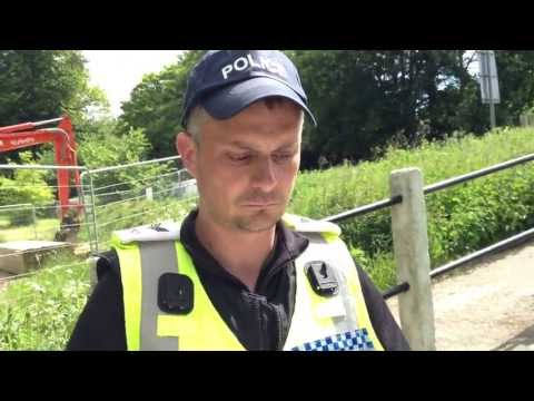 Police Confronted Inside The Grove Hotel Perimiter, Bilderberg 2013.