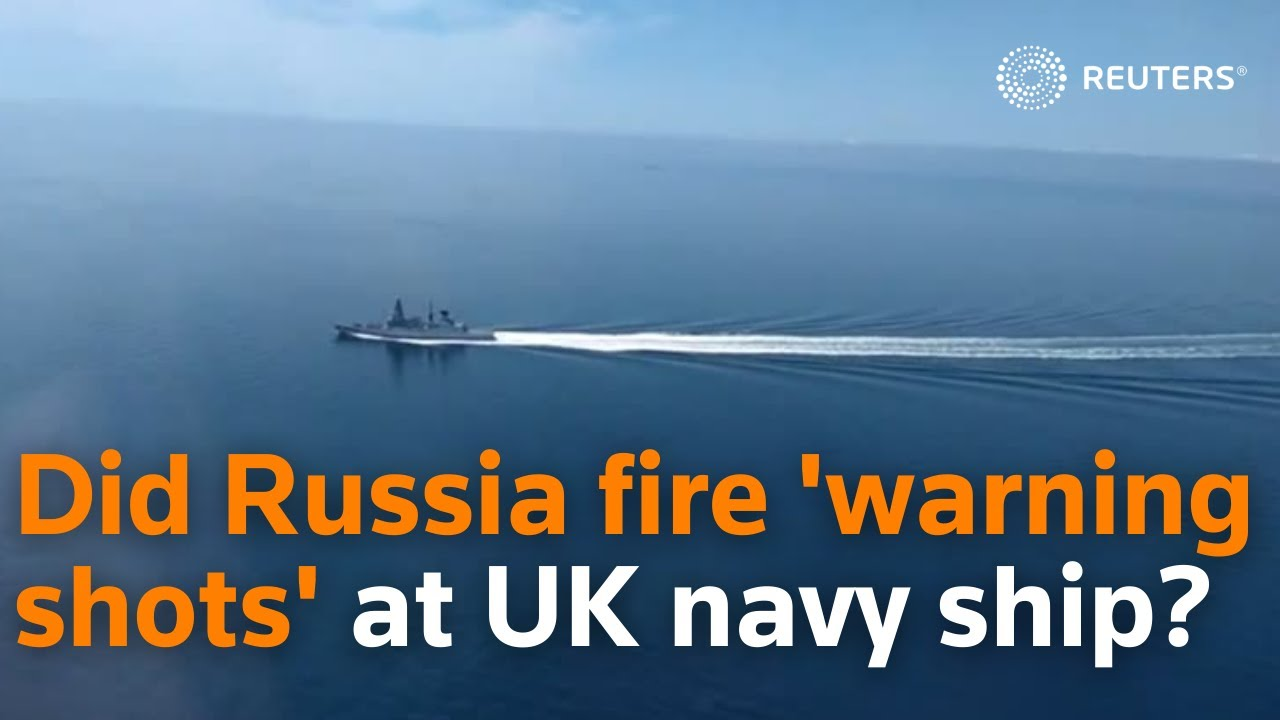 """BBC Journalist reports from British Warship as Russia """"Fires Warning Shots"""""""