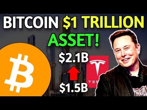 Bitcoin A $1 Trillion Asset Soon \u0026 Tesla's $1.5B BTC Investment Now Worth $2.1 Billion!
