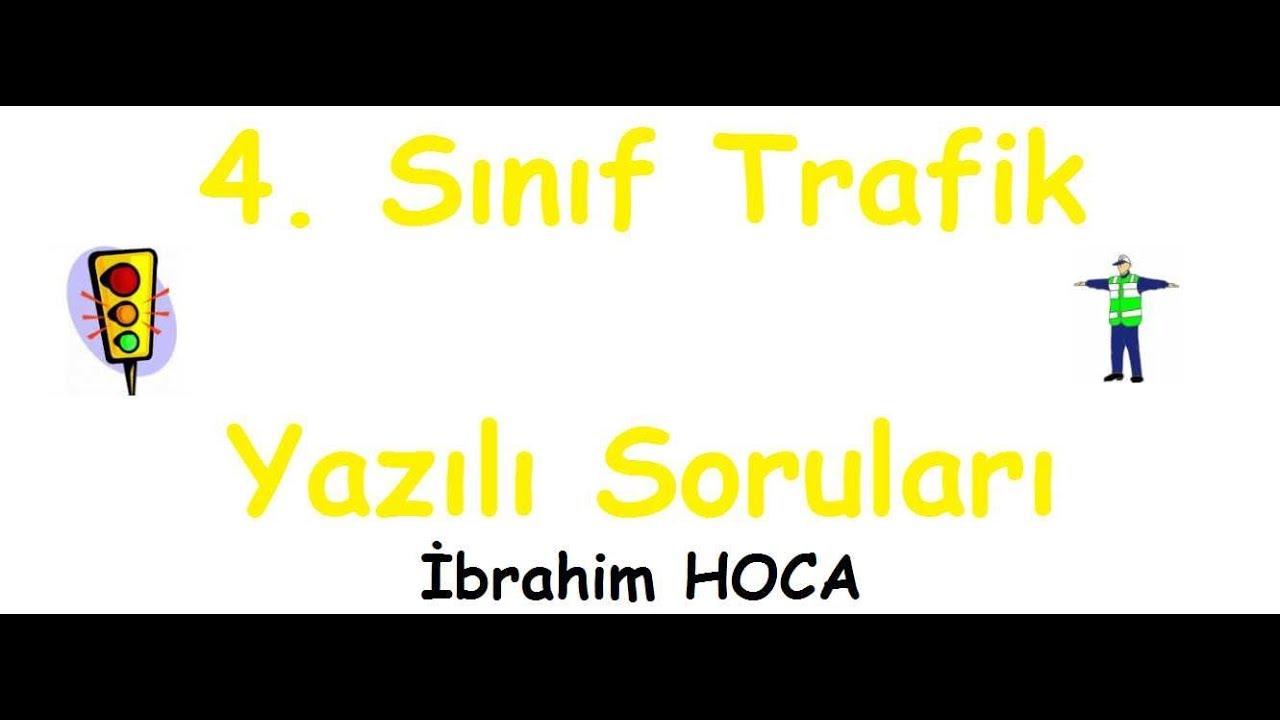 4 Sınıf Trafik Dersi 2 Dönem 1 Yazılı Sınav 1 Youtube