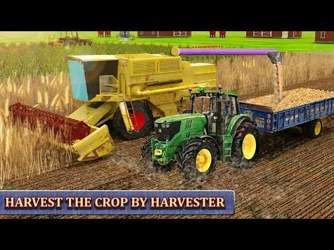 Harvester Tractor Farming Simulator Game Android Gameplay HD