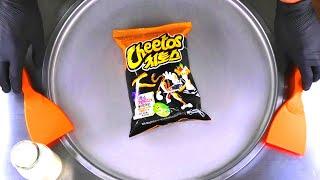 How to make HOT Cheetos Ice Cream Rolls