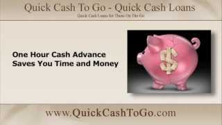 One Hour Cash Advance Saves You Time and Money