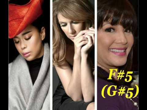 Sophia/Susan huang (黄绮珊)VS Celine Dion VS Regine Velasquez C3-C6