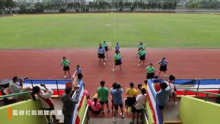 保良局朱敬文中學第三十屆陸運會 - 藍綠社啦啦隊表演