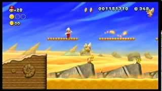 New Super Mario Bros. U - Stone-Eye Zone (Layer-Cake Desert-1) gameplay