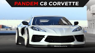 homepage tile video photo for WORLD DEBUT | PANDEM CHEVY C8 CORVETTE WIDEBODY | TOYO TIRES | [4K]