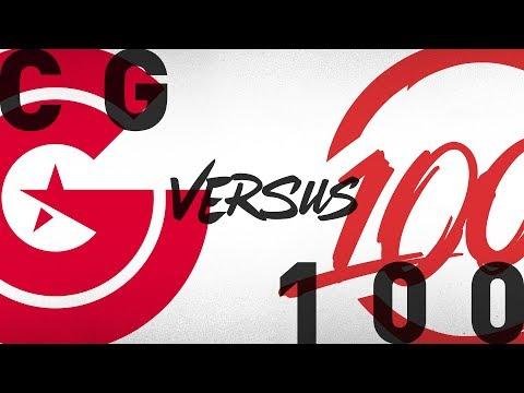 CG Vs. 100 - Week 6 Day 1 | NA LCS Summer Split | Clutch Gaming Vs. 100 Thieves (2018)