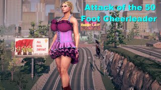 Attack Of The 50 Foot Cheerleader Giantess Growth And Rampage [Saints Row 4]