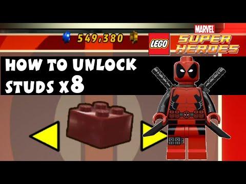 Lego Marvel Super Heroes - How To Unlock Studs X8 Deadpool Brick