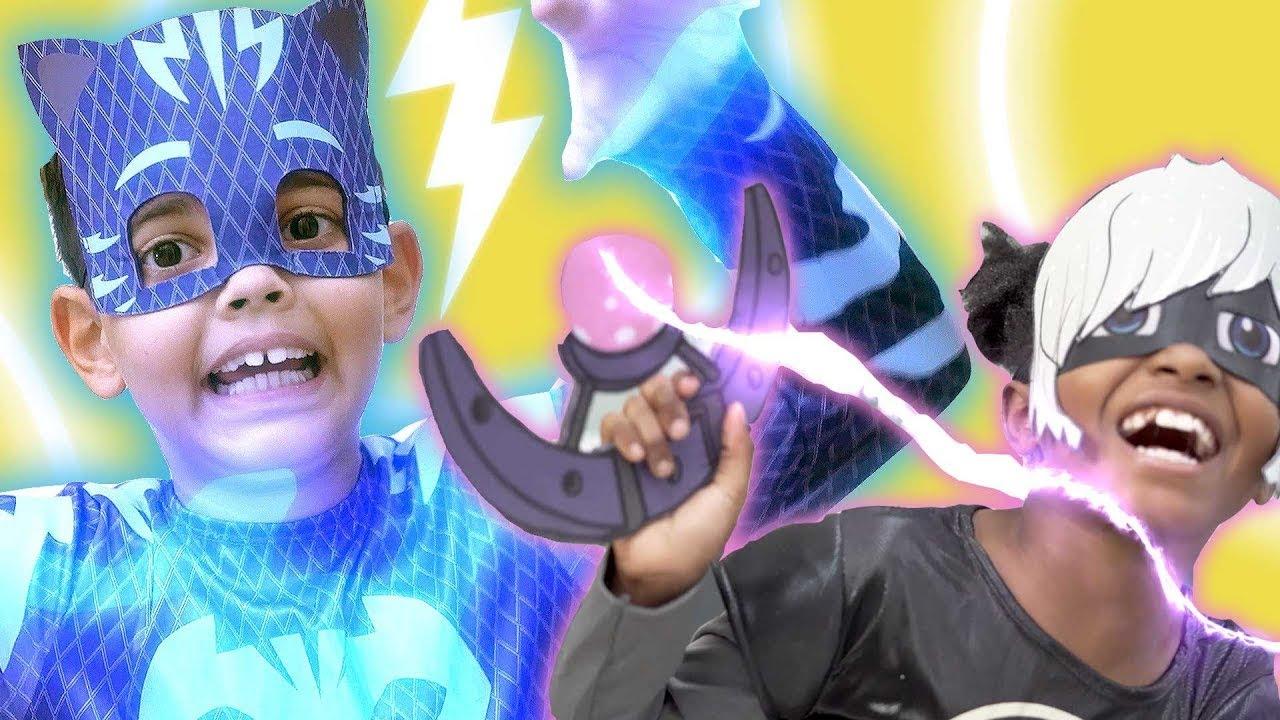PJ Masks in Real Life: Catboy's Special Rock! ⚡️ PJ Masks