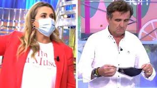 El ridículo final de Carlota Corredera y la expulsión de Antonio Montero por Rocío Carrasco
