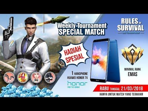 Rules Of Survival Indonesia : Weekly Tournament Berhadiah HP Honor 7X