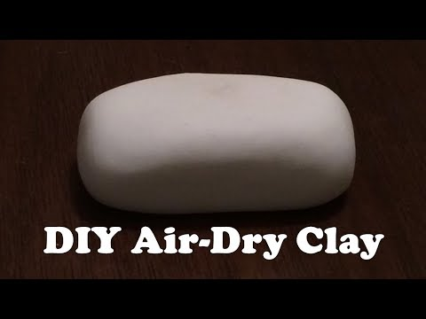 DIY Air Dry Clay  No Cooking Clay