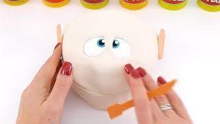 Свинка Пеппа и Мистер Зубастик-снеговик из Плей До торт с лизунами Мультик из игрушек - Серия 126