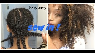ReDoing My Sewin Kinky Curly Hair !Love Sidora Hair