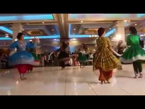 Beautiful Attan by Afghan girls - 2017